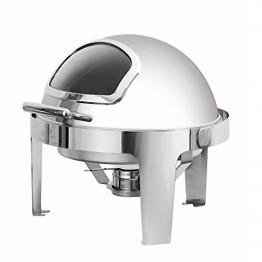 Buffet tròn chân inox (nắp PC)-KS51363