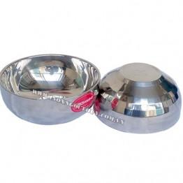 Tô inox kim cương 2 lớp BTP 17cm