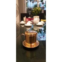 Phin cà phê Inox mạ vàng