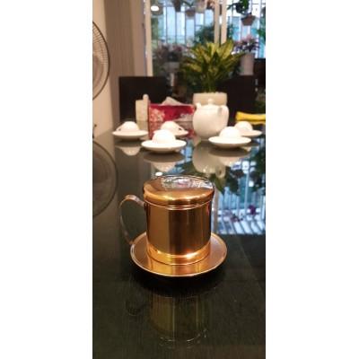 Phin cà phê Inox mạ vàng bởi www.inoxngocthuy.com