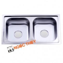 Chậu rửa inox (304) 2 hộc BD5