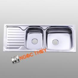 Chậu rửa inox (304) 2 hộc+1 cánh  BDC1