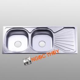 Chậu rửa inox (304) 2 hộc+1 cánh  BDC6