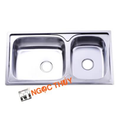 Chậu rửa inox (304) 2 hộc - inoxngocthuy.com
