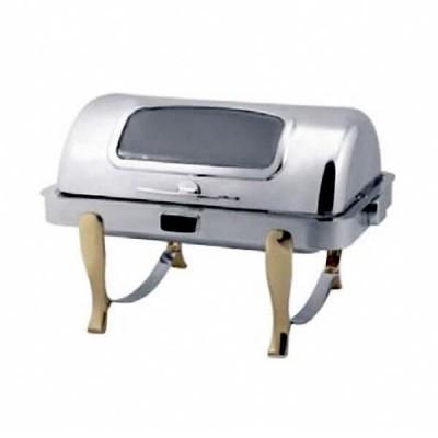 Buffet chữ nhật chân vàng (nắp PC) dùng điện - inoxngocthuy.com