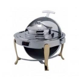 Buffet tròn chân vàng (nắp PC) dùng điện - DSK51181