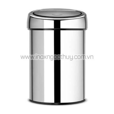 Thùng rác 3L Touch inox bóng (BR11) - inoxngocthuy.com