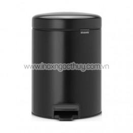 Thùng rác 5L Pedal đen (BR56B)