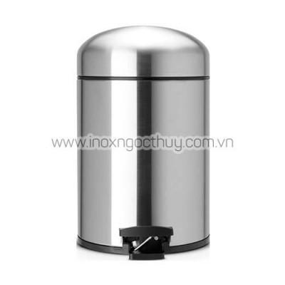 Thùng rác 5L Retro inox mờ - inoxngocthuy.com
