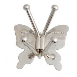 Móc áo inox bướm xếp